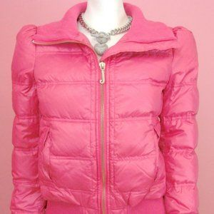 Juicy Couture Passion Pink Puffer Down Jacket